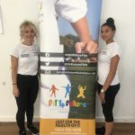 Fit 4 Future Foundation Activity Leaders, Katie and Georgia at the Summer 2018 Holiday Activities Camp