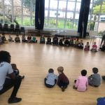 Children during circle time and games at the Fit 4 Future Foundation Holiday Activities Camp