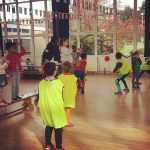 Children playing French and English dodgeball game at the Fit 4 Future Foundation Holiday Activities Camp