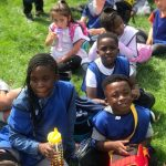 Aaliyah and Amari enjoying their time at Crystal Palace Park at the Fit 4 Future Foundation Holiday Activities Camp