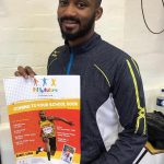 TEAM GB, professional athlete Daniel Lewis promoting Fit 4 Future Foundation