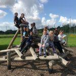 Children enjoying the climbing frames at James Dixon Primary School