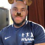Chair of Trustees, Segun Adeniji using snapchat filter