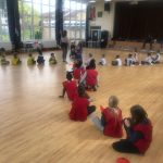 Children playing team running games at the Fit 4 Future Foundation Holiday Activities Camp