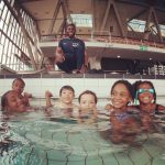 Children enjoying swimming at Crystal Palace National Sports Centre during the Fit 4 Future Foundation School Holiday Activities Camp