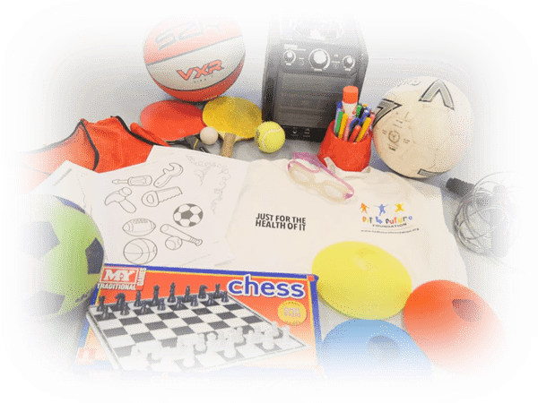 Sports and play equipment at the Fit 4 Future Foundation Holiday Activities Camp