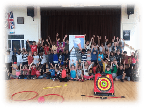 All the children grouped together at the Fit 4 Future Foundation May 2019 Holiday Activities Camp.