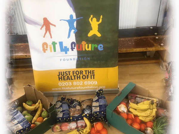 Free fruit and veg and healthy food from Fareshare for the kids at the Fit 4 Future Foundation Holiday Activities Camp