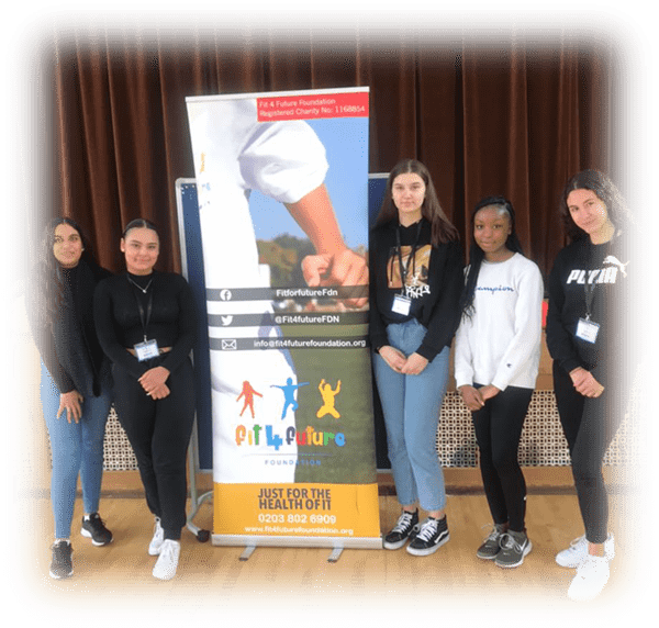 A level students from Lambeth Academy and Langley Park School for Girls during the Fit 4 Future Foundation School Holiday Activities Camp